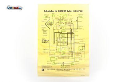 Moto Prodejna Cz Plakat Elektricke Schema Simson Skutr Sr50 1c 12v